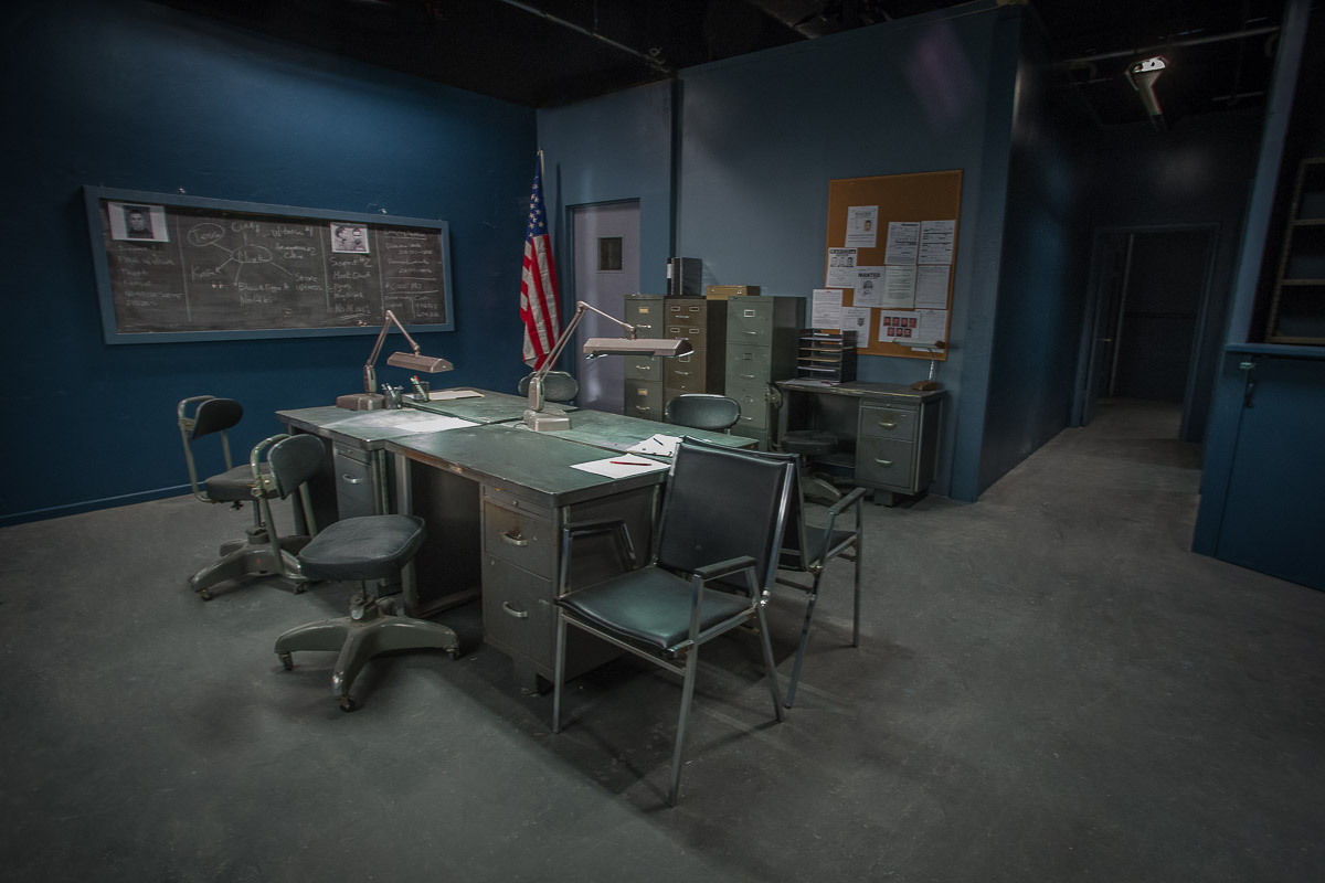 police station standing set in los angeles